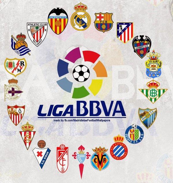 Les résultats finals de la 26 journées de la Liga BBVA 2015-2016.