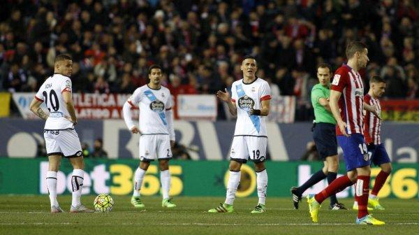 El Deportivo perdio logicamente en el campo del l'Atlético en el Vicente Calderon.