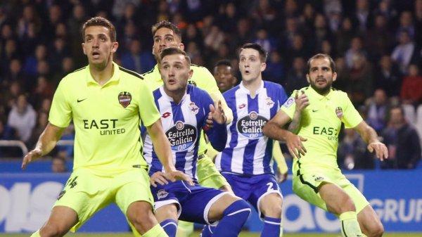 Le Deportivo a obtenue sa 1 victoire de l'année 2016 en s'imposant contre Levante.