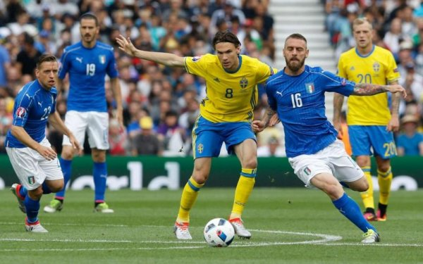 Victoire souffrante et difficile de l'Italie qui a eu vraiment de la peine contre la Suède.