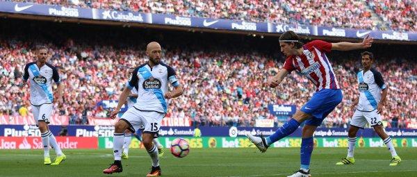 El Deportivo cayo injustamente sul campo del Atlético en el estadio Vicente Calderon.