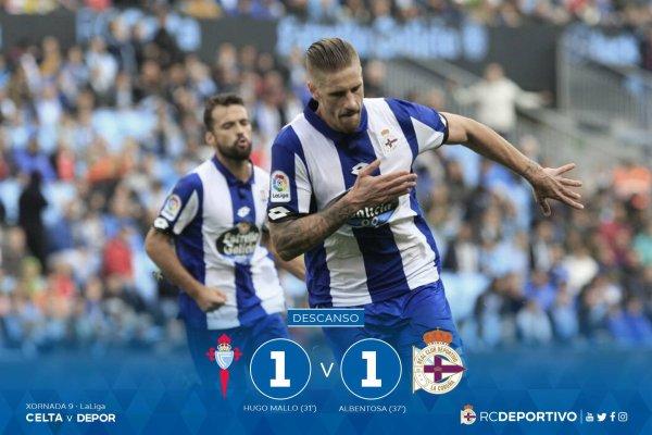 Dura derrota del Deportivo que cayo sobre el terreno del Celta en el derby Gallego.