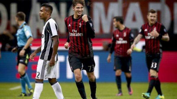 La Juventus s'est incliné sur la pelouse de Milan injustement à cause de l'arbitre.
