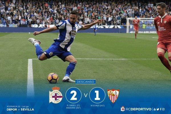 El Deportivo no merecio de perder contra el Sevilla en el estadio de Riazor.
