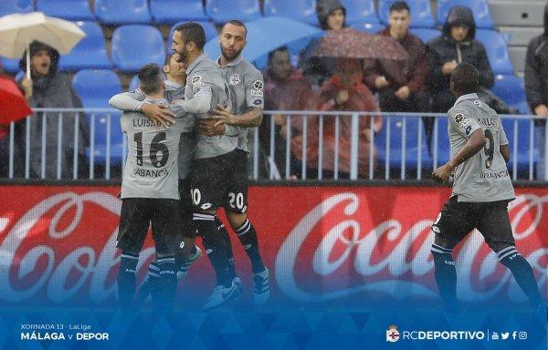 El Deportivo no merecio de perder sobre el campo del Malaga en la Rosaleda.