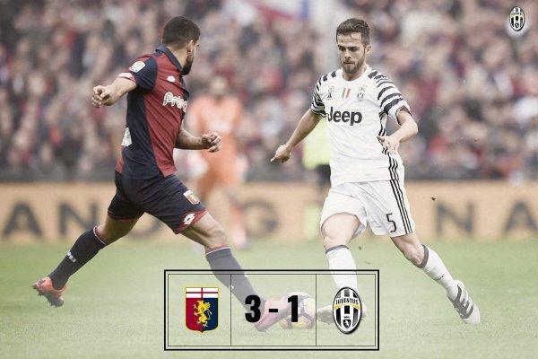 Dure défaite de la Juventus qui s'est incliné lourdement sur la pelouse de Genoa.