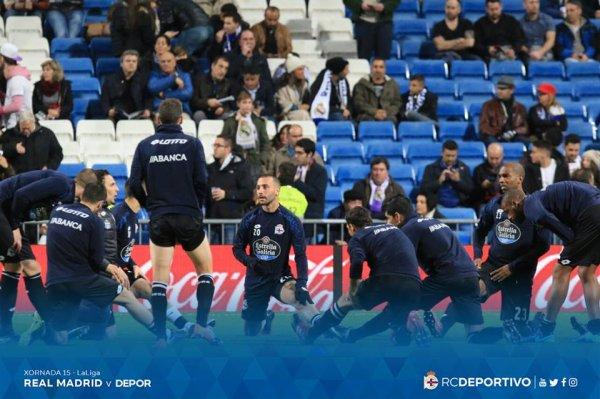 El Deportivo cayo injustamente sul campo del Real Madrid en el estadio Bernabeu.