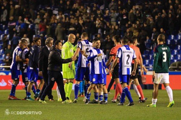 El Deportivo logro un triunfo vital contra el Osasuna un rival directo por la permanecia.