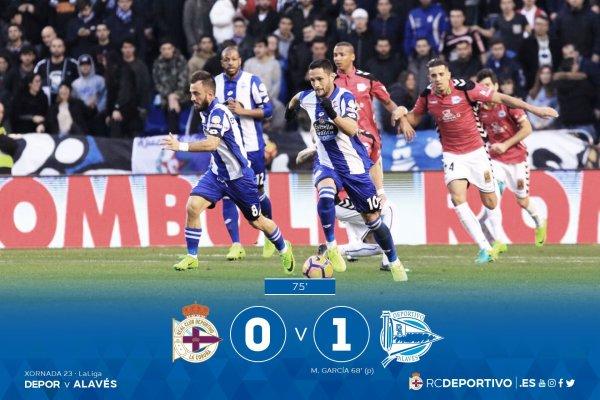 El Deportivo no merecio de perder en su proprio campo contra el Alavès.
