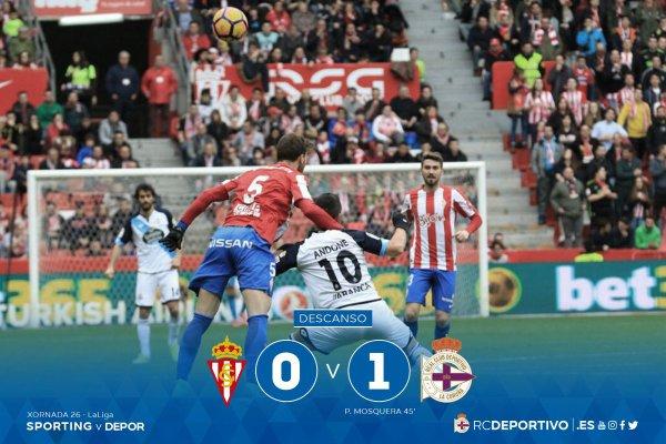 El Deportivo consiguio su primera victoria vital fuera sobre el campo del Sporting Gijon.