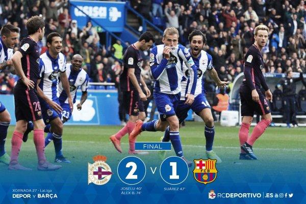 El Deportivo logro un buen triunfo a domicilio a Riazor contra el Barcelona