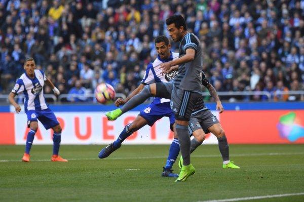 El Deportivo cayo derrotado en su proprio campo contra el Celta para el derbi gallego.