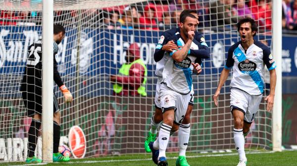 El Deportivo pudo salvar un punto valioso en su visitante sobre el campo del Osasuna.