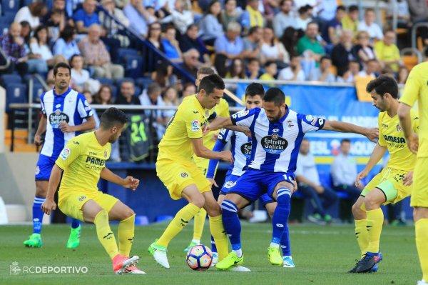 El Deportivo logro un punto valioso de su visita en el campo del Villareal al empatar.