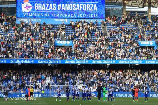El Deportivo termino la temporada con un triunfo contra Las Palmas en Riazor.