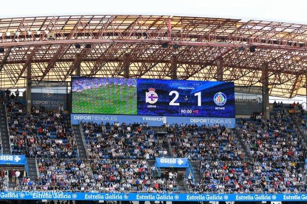 El Deportivo consiguio un triunfo vital contra el Getafe en el estadio de Abanca-Riazor.