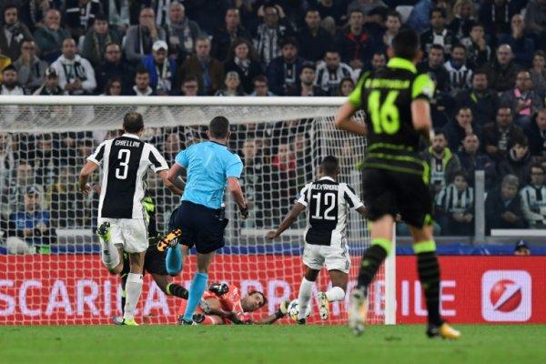 Une victoire souffrante de la Juventus à domicile contre l'équipe du Sporting Portugal.