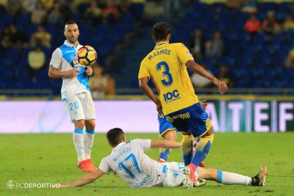 El Deportivo logro una victoria importante sobre el campo de Las Palmas.
