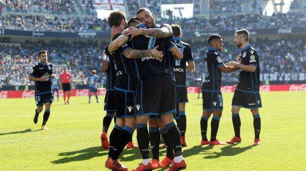 El Deportivo cayo derrotado injustamente sobre el campo del Malaga mala suerte.
