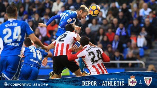 El Deportivo a podido logra un punto en su proprio campo contra el Athletic.
