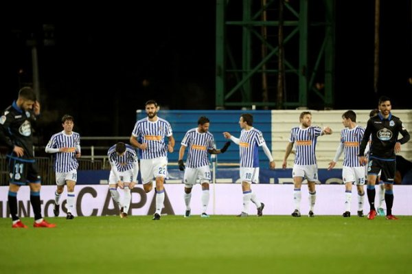 El Deportivo esta en plena crisis profundo sin respuesta en el campo de la Real Sociedad
