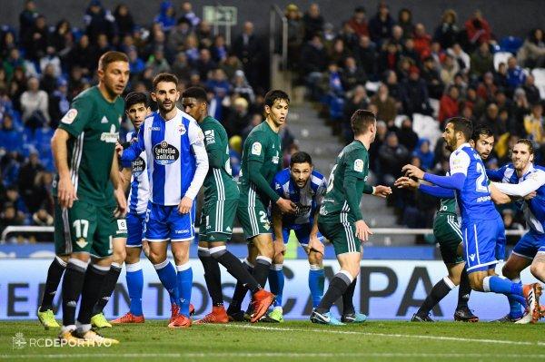 El Deportivo no levanta la cabeza y sigue en una complicacion con derrota frente al Betis