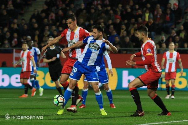 El Deportivo continua la rotina de la racha negativo tras perder en el campo del Girona.