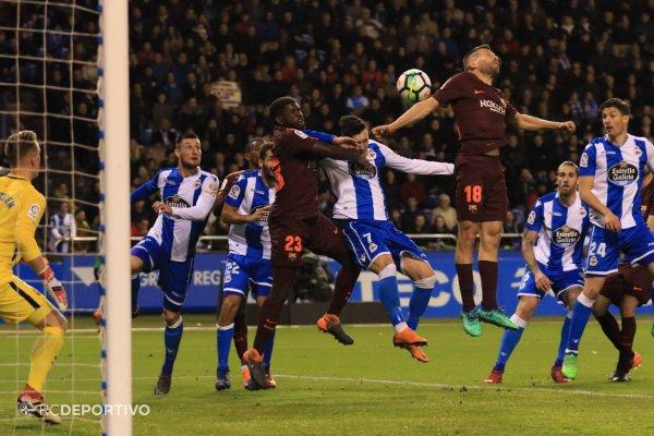 El Deportivo consumo su descenso matematico tras perder contra el Barcelona.