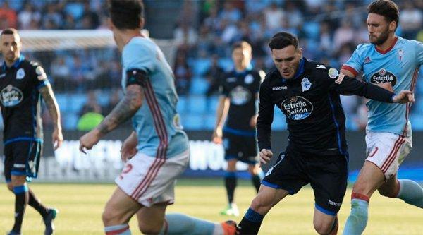 El Deportivo consiguio un buen empate sobre el campo del Celta en el derbi.