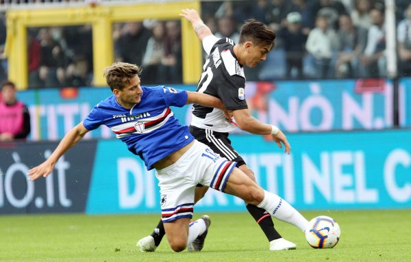 La Juventus conclue la fin du championnat part une défaite contre la Sampdoria.