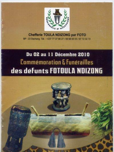 TOULA NDIZONG: VIBRANT ET ULTIME HOMMAGE AUX 16 FO TOULA  NDIZONG DU 2 AU 11 DECEMBRE