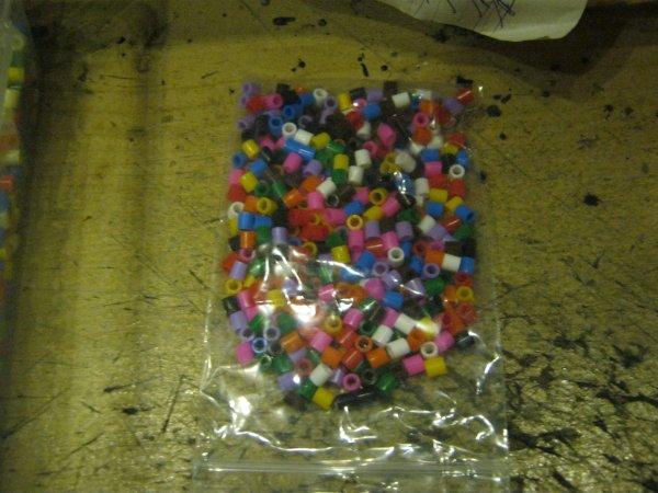 Perles à repasser Hama et Ikea