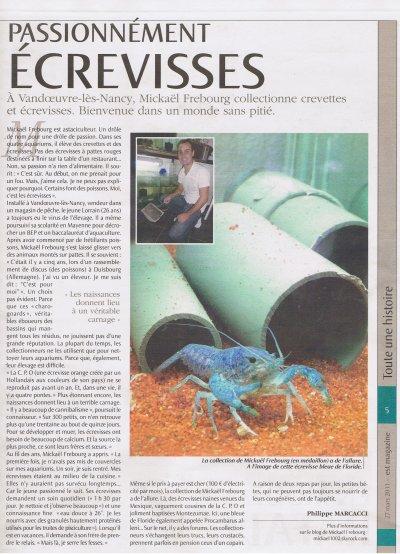 Article de l EST magasine le 27 mars 2011