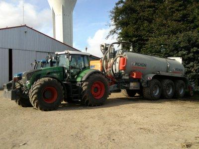 Fendt 936 Vario - Tonne Pichon 27 500 litres