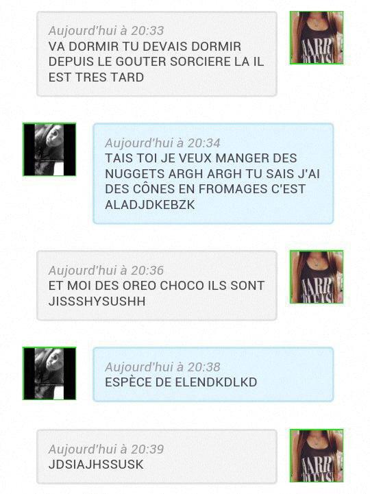Conversation Dalia & Moi. :sors: