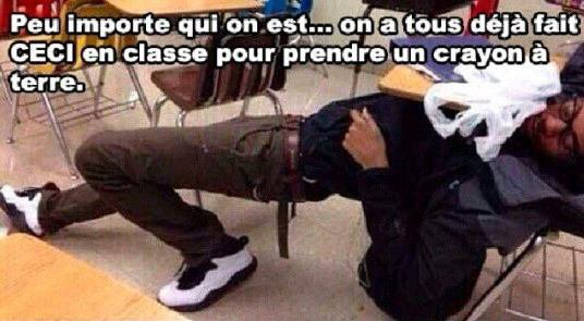 On a tous...