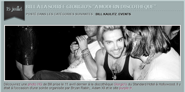ARTICLE 115 » BILL KAULITZ, EVENTS.