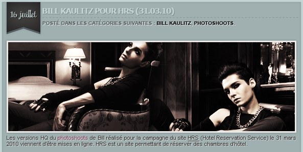 ARTICLE 117 » BILL KAULITZ, PHOTOSHOOTS.