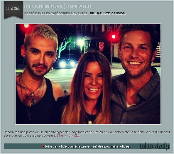 ARTICLE 121 » BILL KAULITZ, CANDIDS.