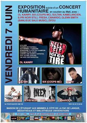 Rap Concert humanitaire à la Rochelle au profit du Mali et match de foot juin 2013