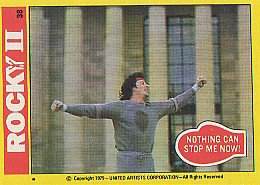 trading cards rocky II