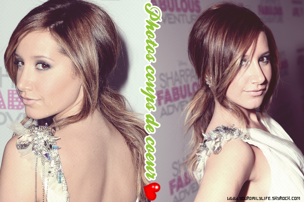 "6 avril 2011 - Ashley - rayonnante et splendide - s'était rendue à l'avant première de son film ""Sharpay Fabulous Adventures""."