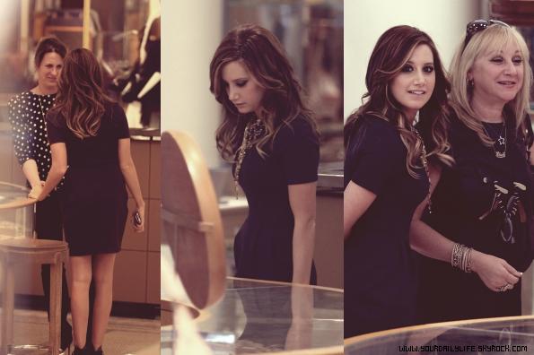 11 avril 2011 - Après avoir quitté les studios ABC,Ashley était allée déjeuner à NYC's Time Square avec sa mère.