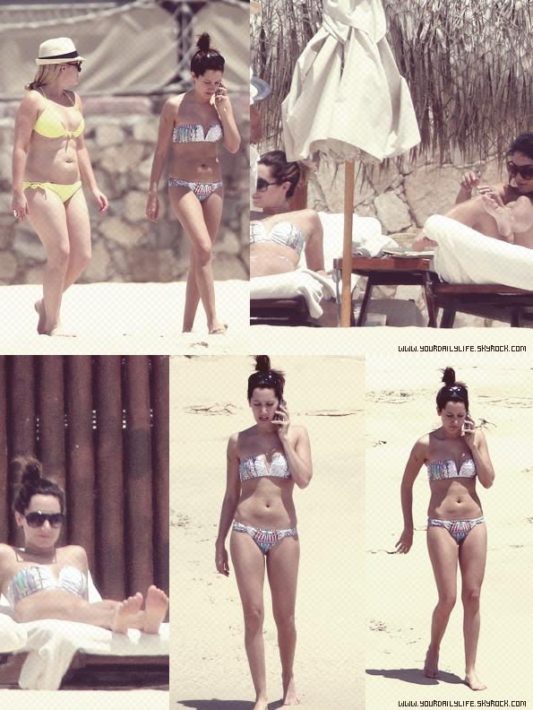 Ce 30 avril , Ashley a été aperçu en vacances dans Lucas San Cabo à Mexico avec Vanessa Hudgens et Shelley Buckner.Ashley était vraiment sublime avec son maillot de bain tendance.Elle a bien mérité des vacances.TOP !