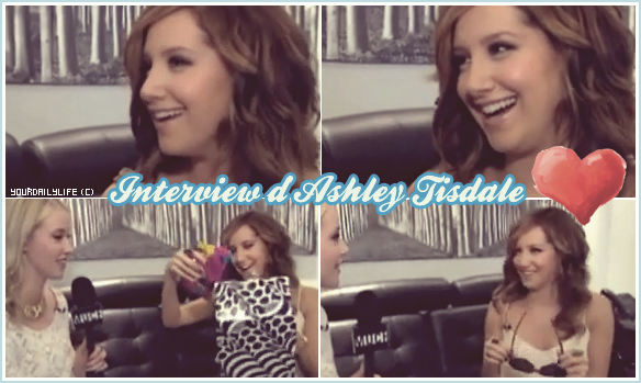 Alors qu'Ashley était à Toronto pour la promotion de SFA, le 14 avril Ashley s'est arrêtée chez MuchMusic pour faire une interview de 10 minutes avec Liz Trinnear.