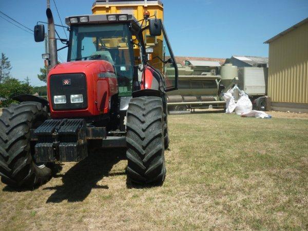 mf 8210 au triage de blé avec la littorale