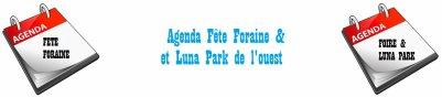 Agenda fête foraine & Luna Park de l'ouest date 2012
