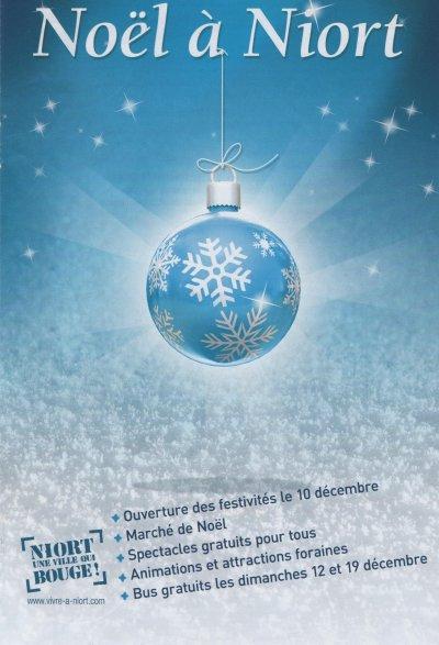 Marché de Noel de NIORT Fête foraine Du 10 décembre au 2 janvier 2011