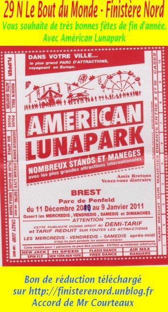 Brest (29) Américan Lunpark 11 Décembre au 9 janvier 2011