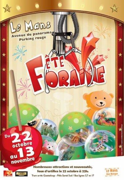 Le Mans (72 ) Fête foraine Du 22 Octobre au 13 Novembre 2011